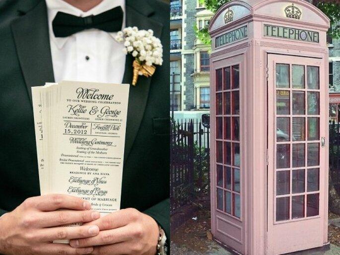 Decoración perfecta para una boda urbana - Foto VUE Photography y Etsy