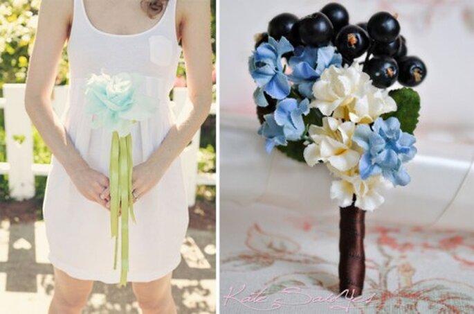 Complementos para novia en azul cielo - Foto PetalAndThorn, KateSaidYes Etsy