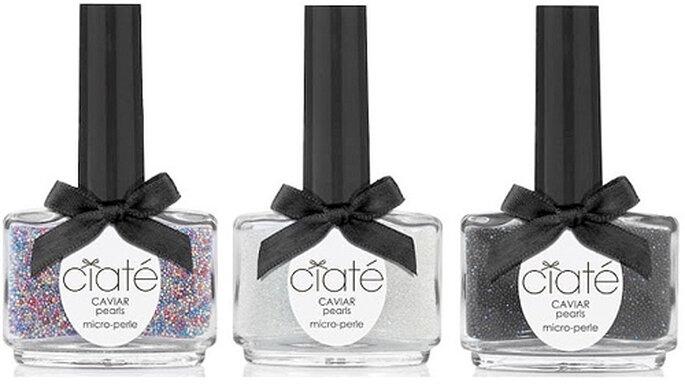 La 'caviar manicure' se encuentra en tres tonalidades diferentes: blanco, negro y multicolor. Foto: Cité