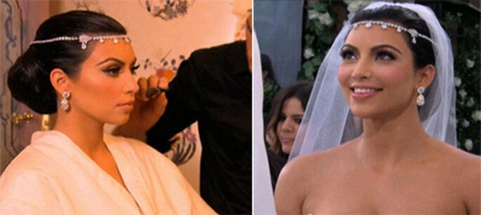 A tiara de Kim - Fotos: E!