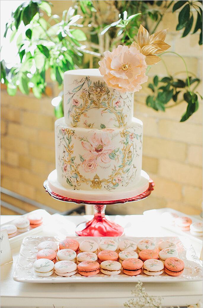 Pasteles de boda pintados a mano - Mango Studios
