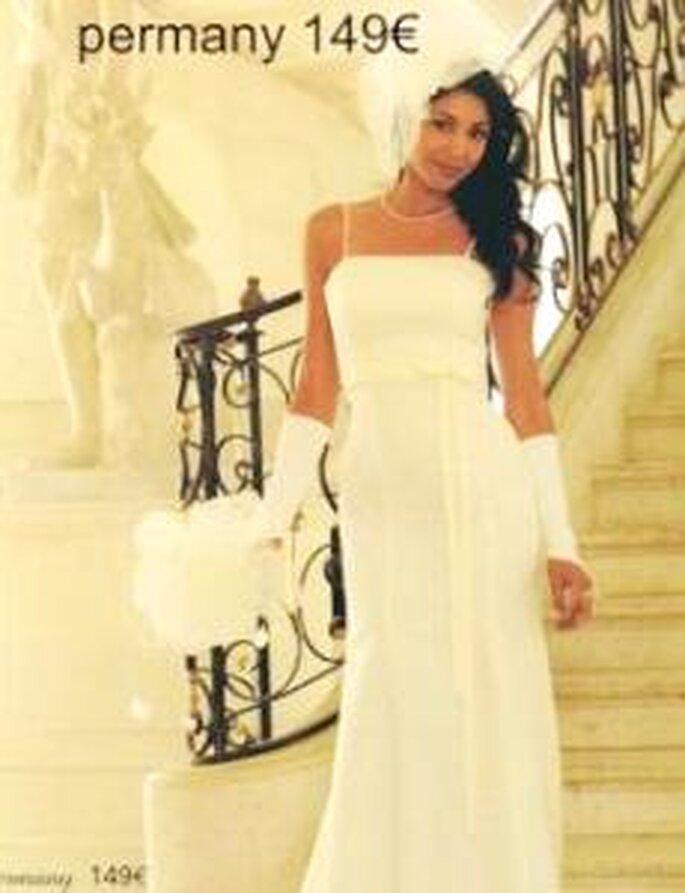 tati mariage 2009 permany robe longue en mousseline de ceinture haute - Magasin Tati Mariage