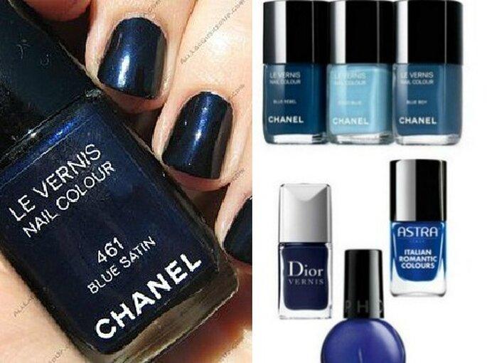 Proposte in blu di Chanel Le Vernis, Dior Vernis, Sephora e Astra. Il blu è il colore più glam della stagione!