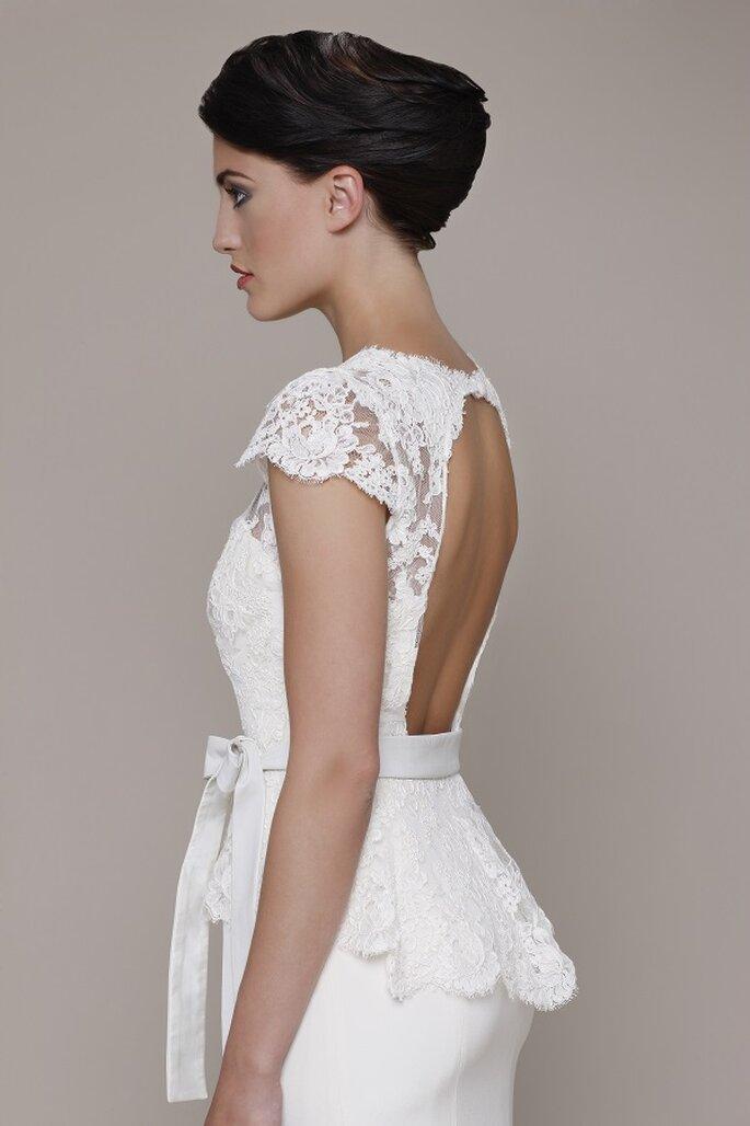Vestido de novia Fiorella de Elizabeth Stuart 2014. Detalle de la espalda. Foto: www.elizabeth-stuart.com