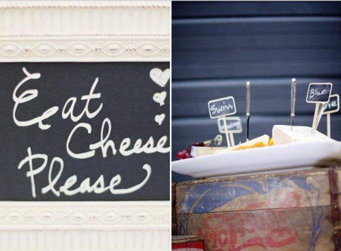 Catering para boda. Foto de Jen Lynne.