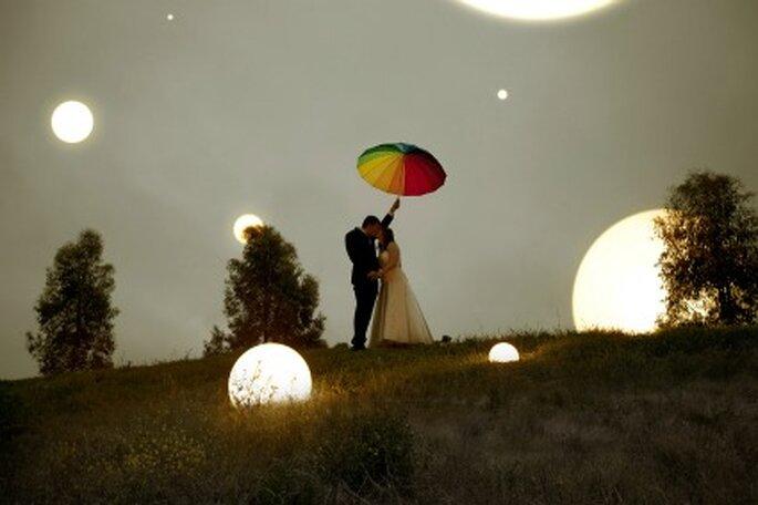 Si el número enegético es el ocho, es una pareja misteriosa poco sociable. Foto: Bird Wedding Photography
