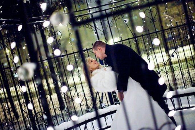 Series de luces blancas para tu boda.