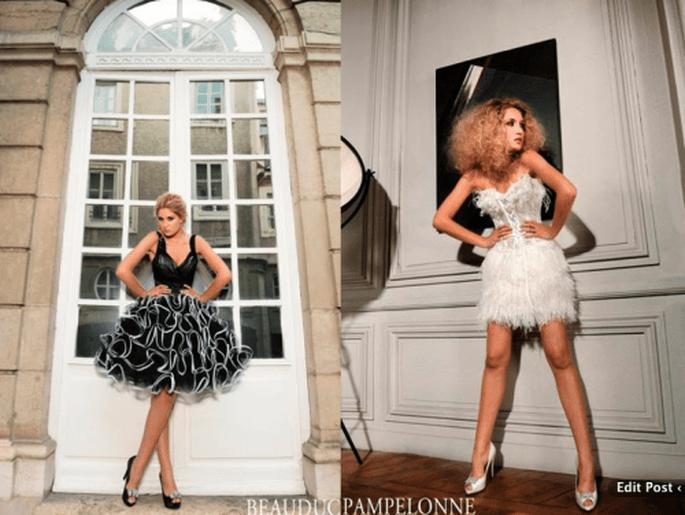 Vestidos de novia modernos cortos - Foto Max Chaoul Couture
