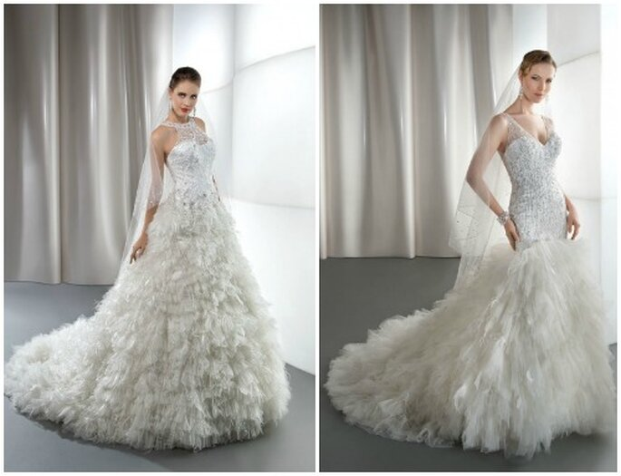 Une robe vaporeuse et romantique ! Demetrios 2013. Photo: www.demetriosbride.com