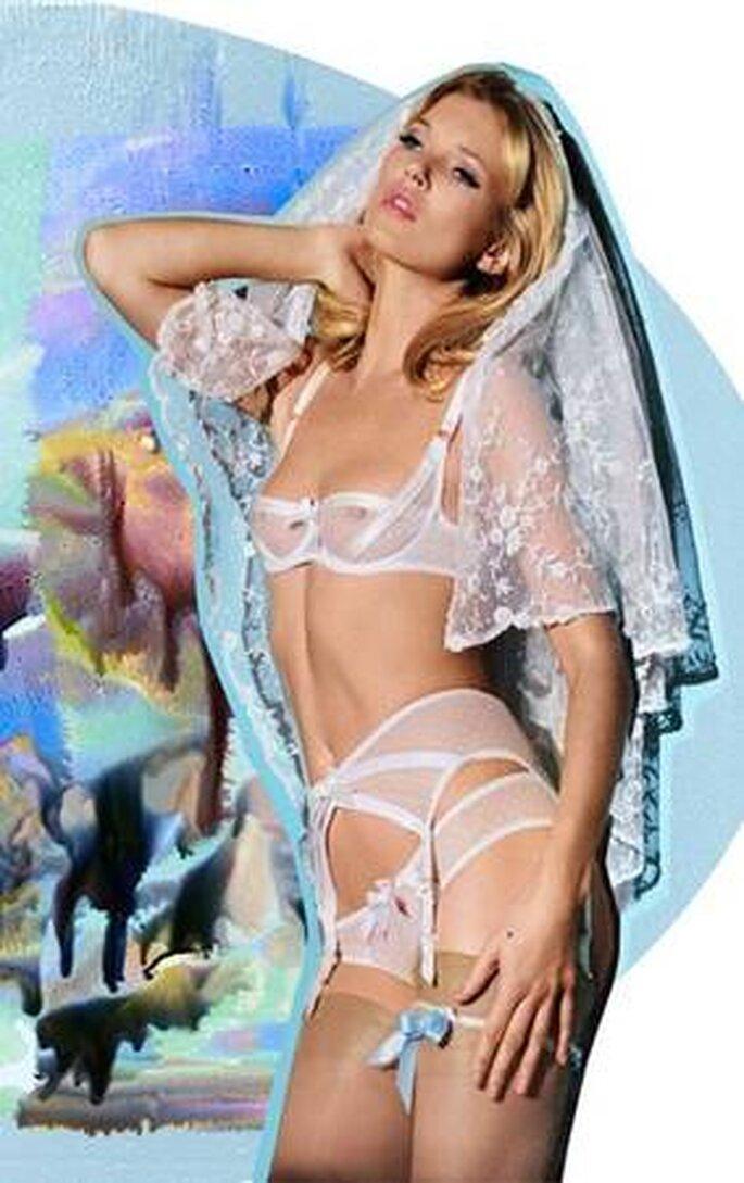 Kate Moss vestida para Noche de bodas