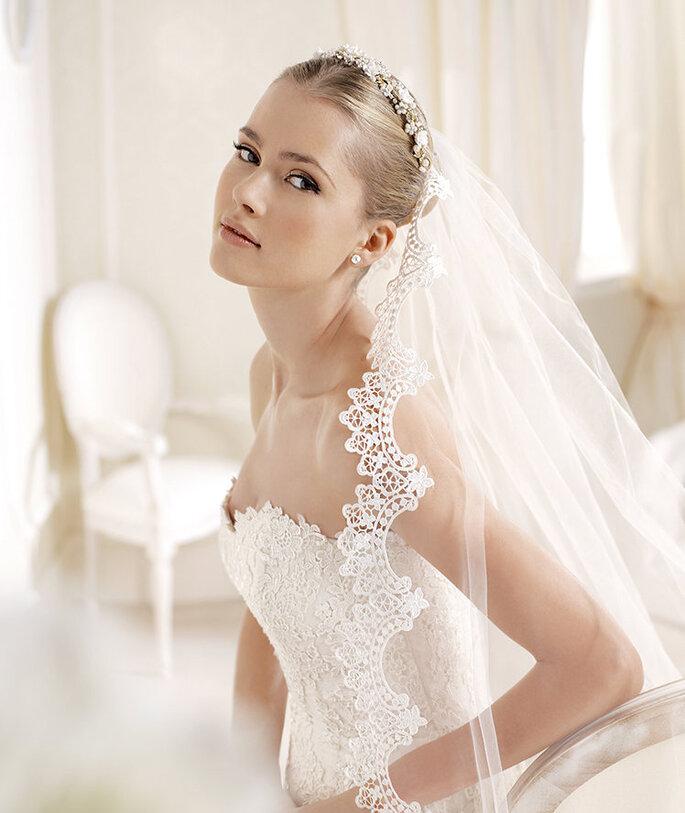 Vestido de novia Idalina. Detalle del velo. Foto: www.lasposa.info