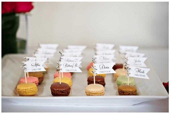 Macarons como postre para tu boda - Foto Dana Goodson Photography