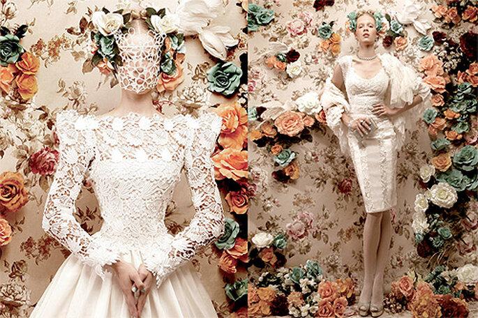 Editoriales de moda con los vestidos de novia más chic. Foto: LucíaSeCasa