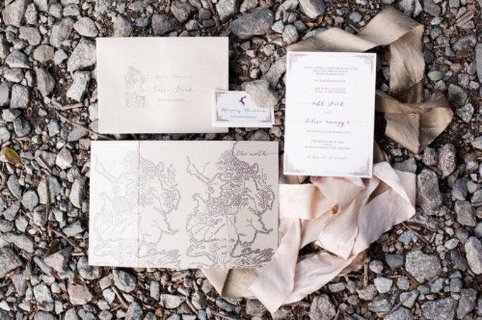 Invitaciones de boda inspiradas en Game of Thrones - Foto Candice Benjamin
