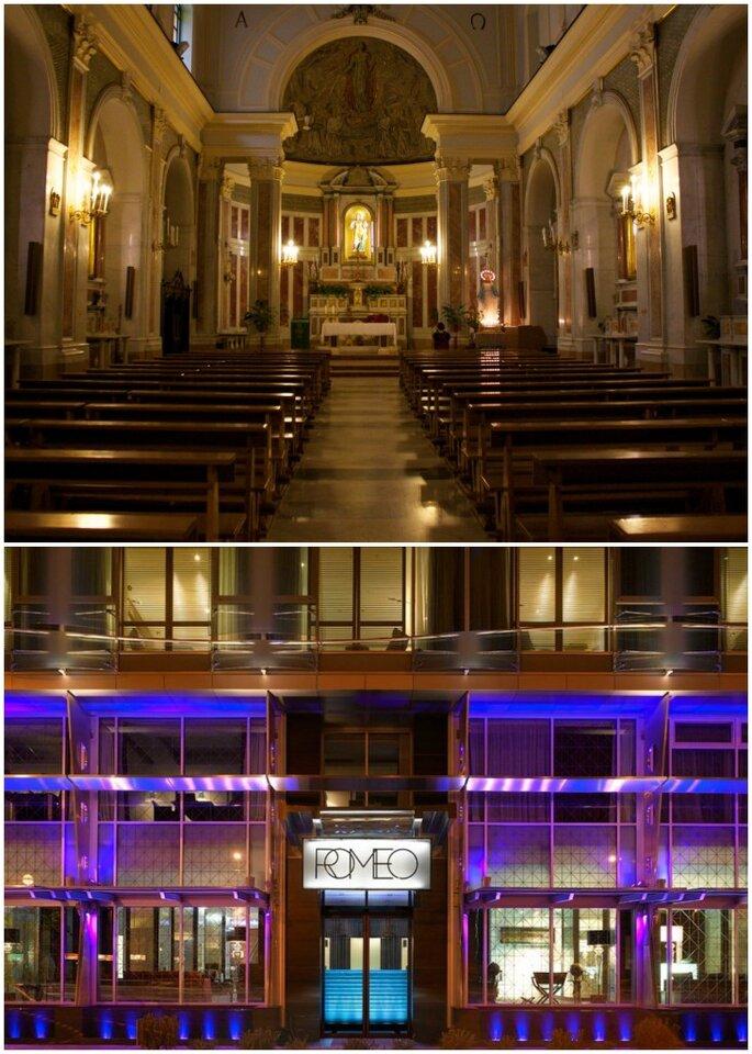 Chiesa di Santa Lucia a Mare e Romeo Hotel