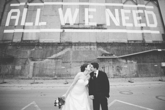 Fotografía de boda en zonas industriales. Imagen Nadia Meli