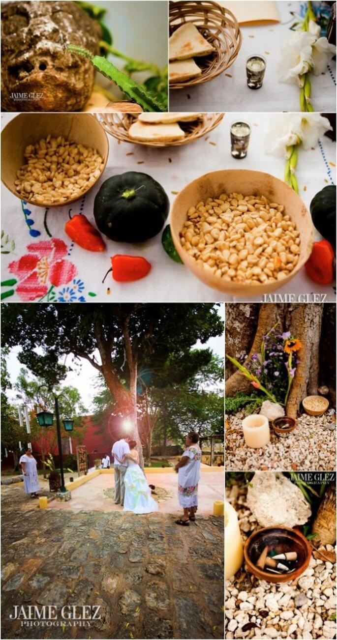 Elementos de la ceremonia tradicional maya de Imaltzin & Steve. Fotografía de Jaime Glez
