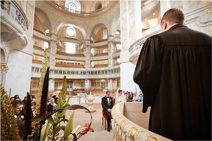Traumhochzeit in der Dresdner Frauenkirche - Foto: Torsten Hufsky.