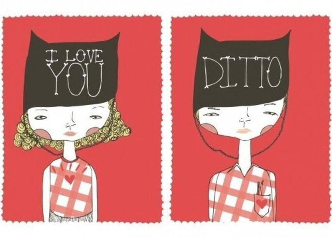 Ditto On The Love 5x7 Prints by Etsy seller Gingiber