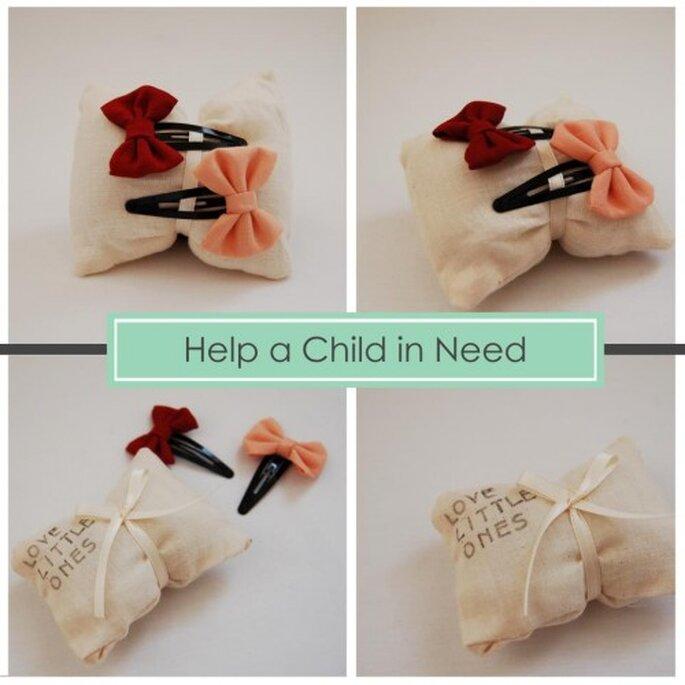 Moños para niña.Foto de Handmade by Sara Kim.