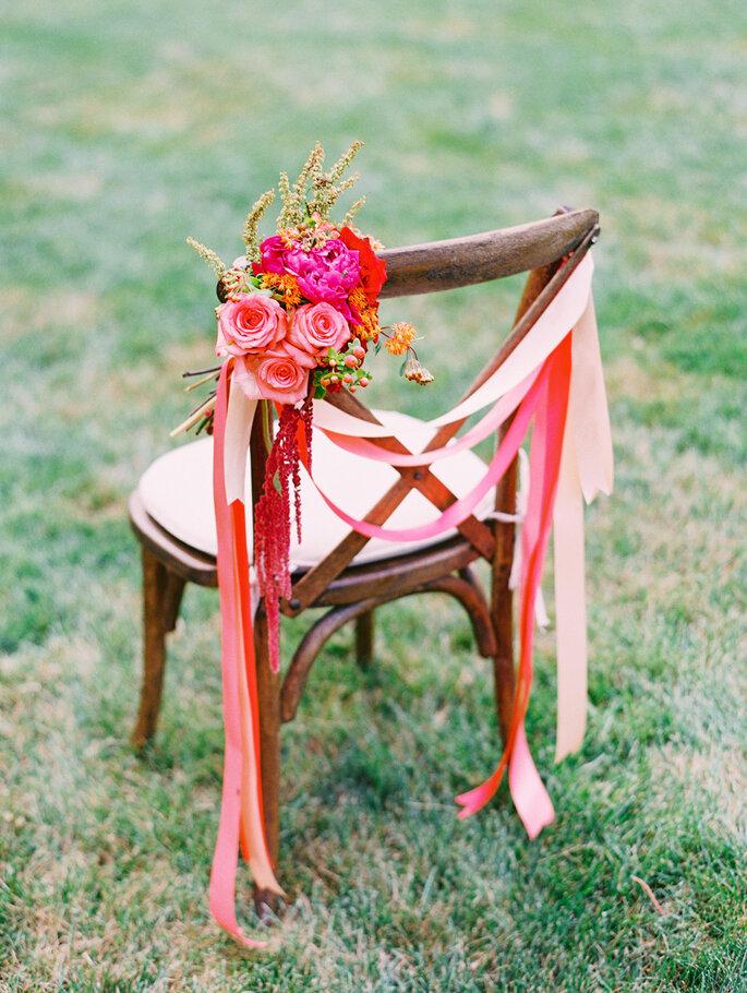 Originales ideas para decorar sillas - Katie Stoops Photography