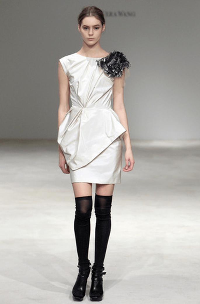 Vestido corto Vera Wang 2012