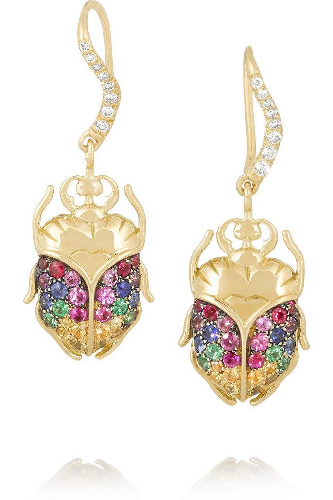 Accesorios en color dorado para invitada fashionista - Aurélie Bidermann Fine Jewelry en Net a Porter