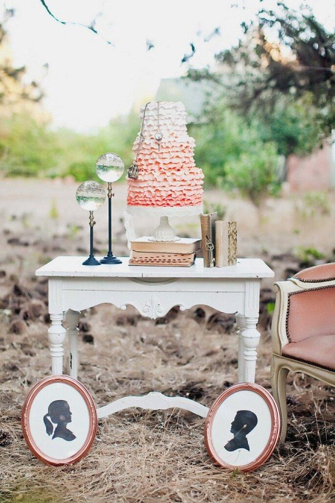 Decoración de boda con siluetas - Foto Tinywater Photography