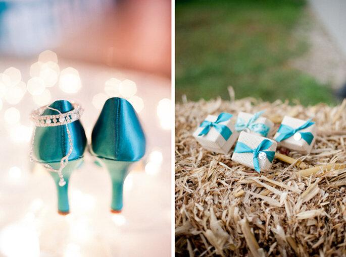 Detalle de los accesorios de la novia y los recuerdos de boda. Foto: Jeff Sampson