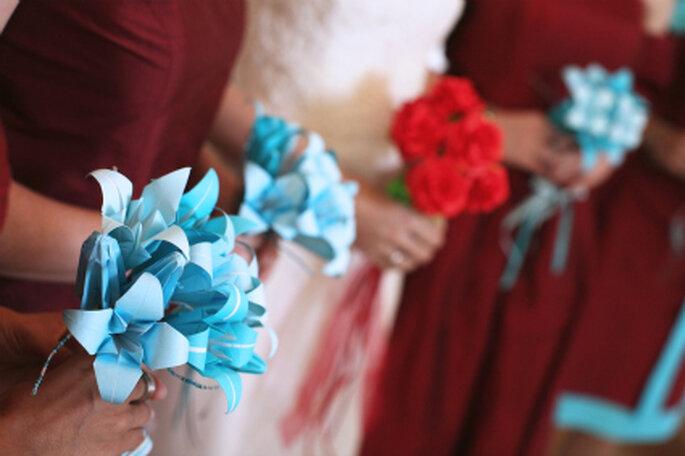 Flores de origami - Fotos de Zzilch (via Flickr)