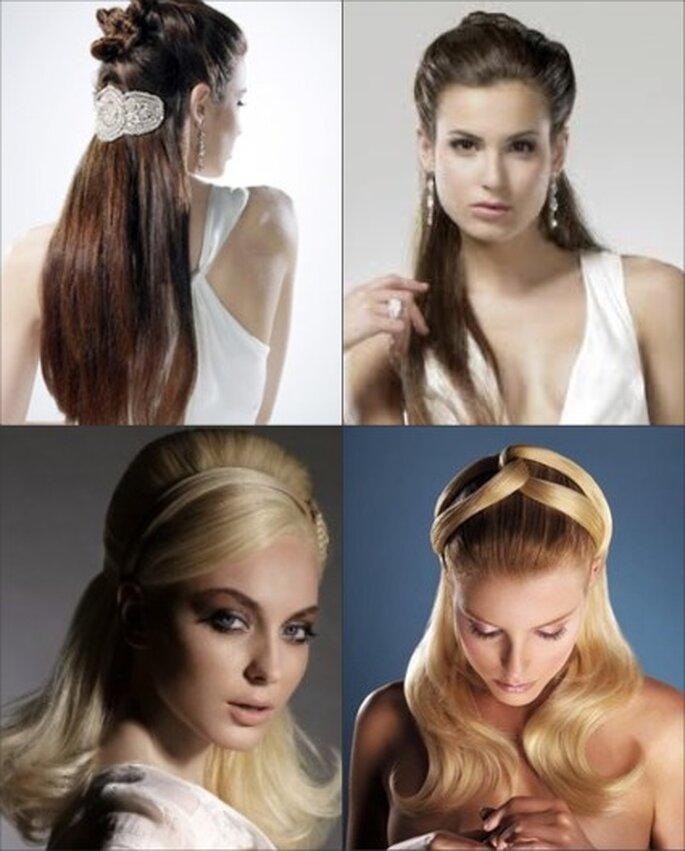 Peinados de novia pelo liso