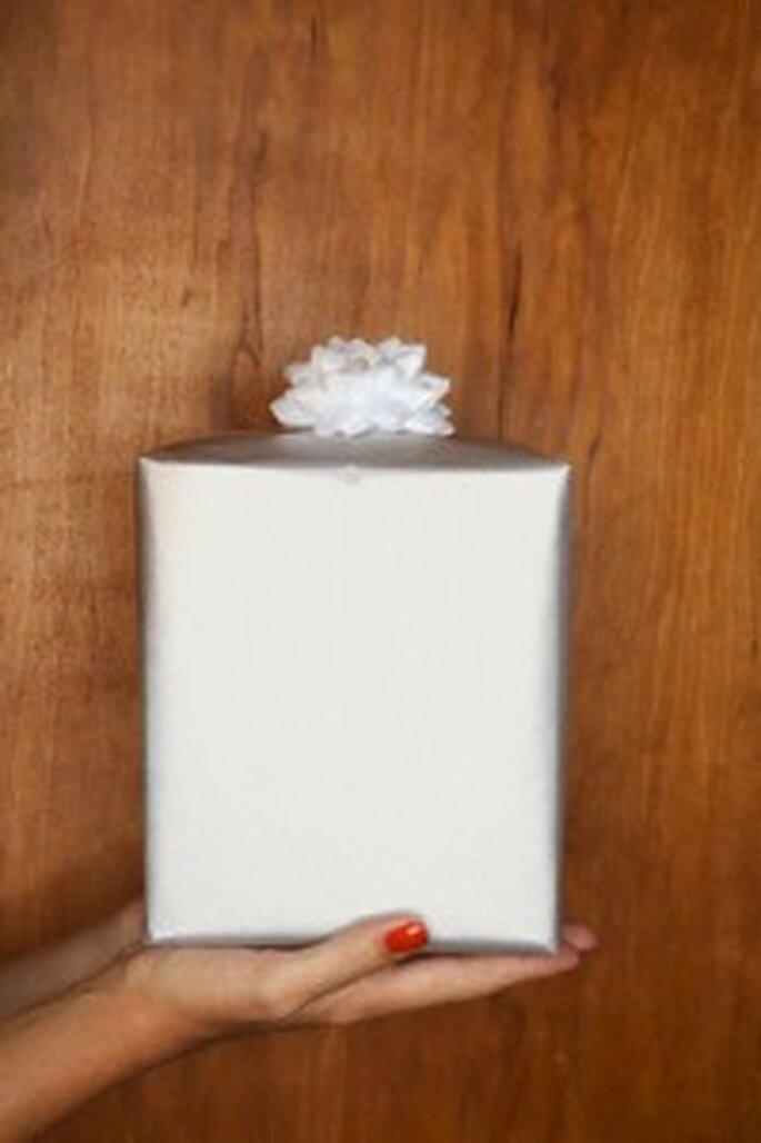 Joli paquet cadeau de mariage