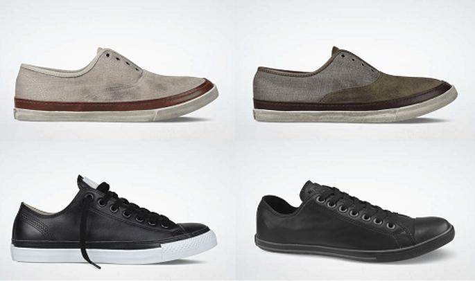 Los materiales lujosos dan a la zapatilla un aspecto elegante. Foto: Converse.