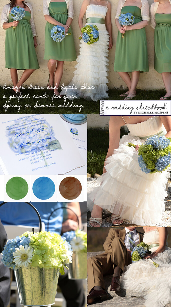 Cores para casamentos - The Wedding Sketchbook