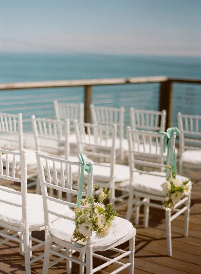 Decoración para una boda en la playa. Foto: Esther Sun