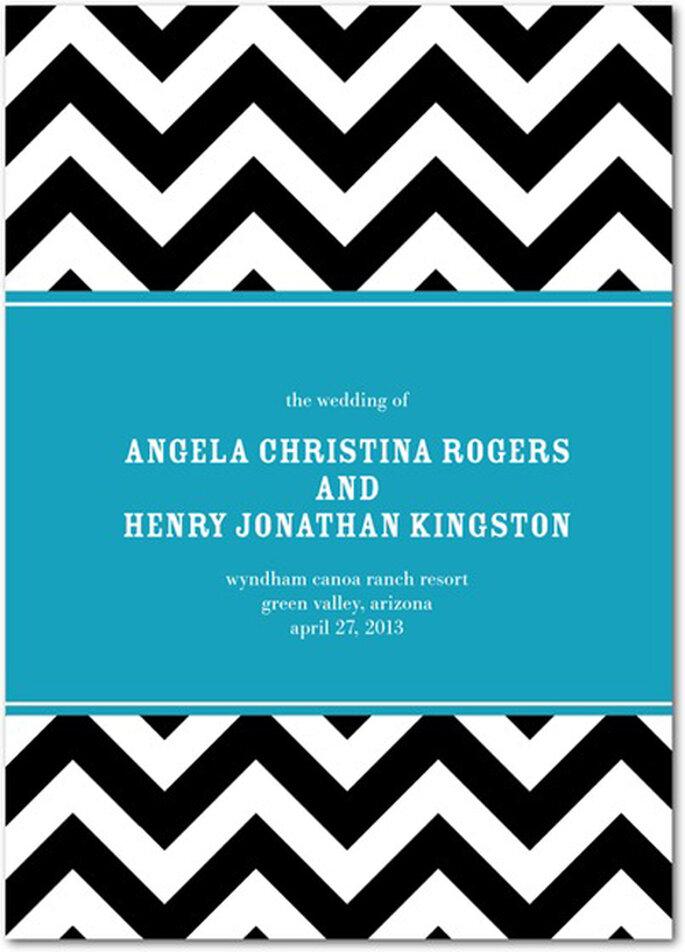 Invitación de boda estilo Chevron de moda en 2013 - Foto Wedding Paper Divas