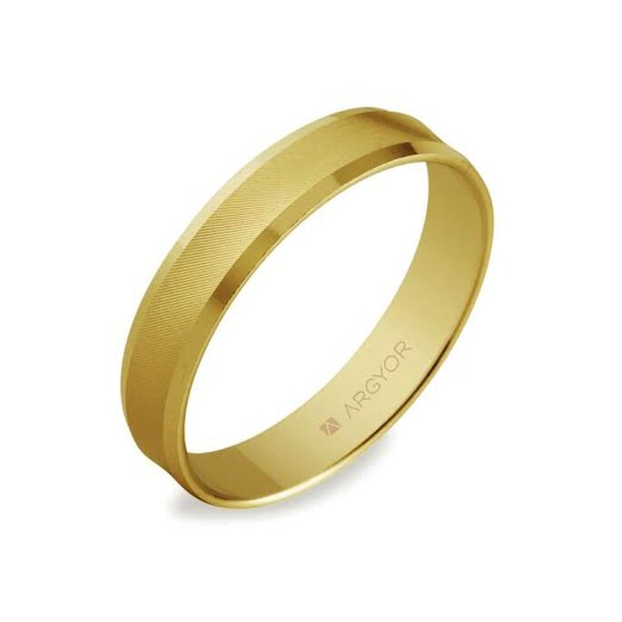 Alianza de boda en oro amarillo - Foto Argyor