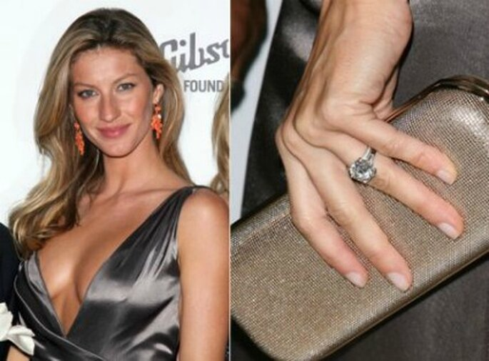 Anello di fidanzamento della supertop Gisele Bundchen. Foto www.matrimonio.pourfemme.it