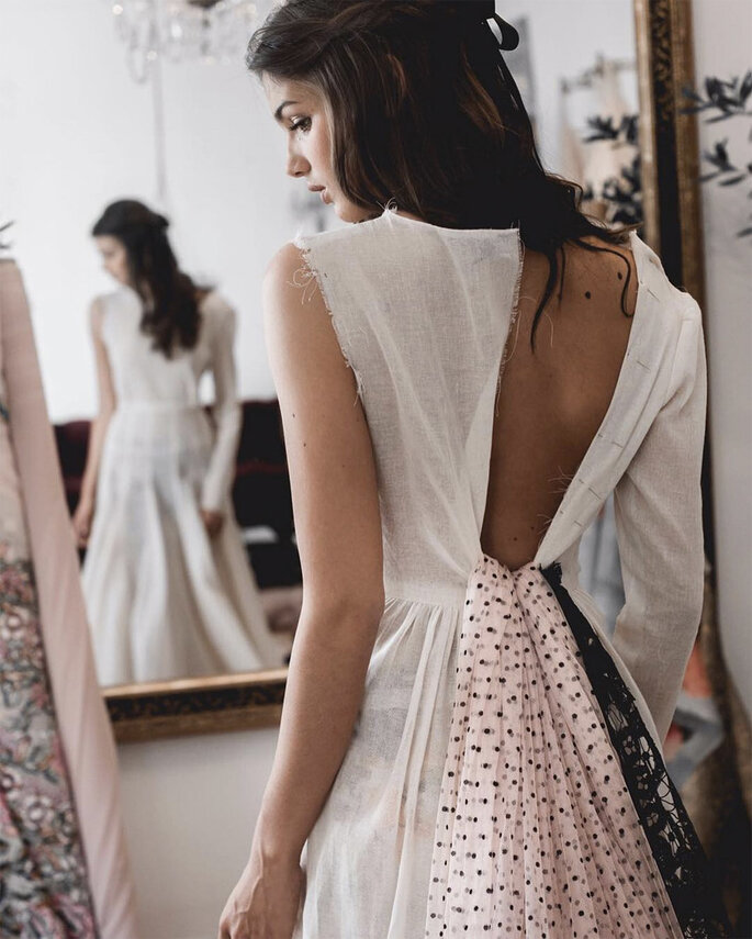 detalles rosa vestidos de novia