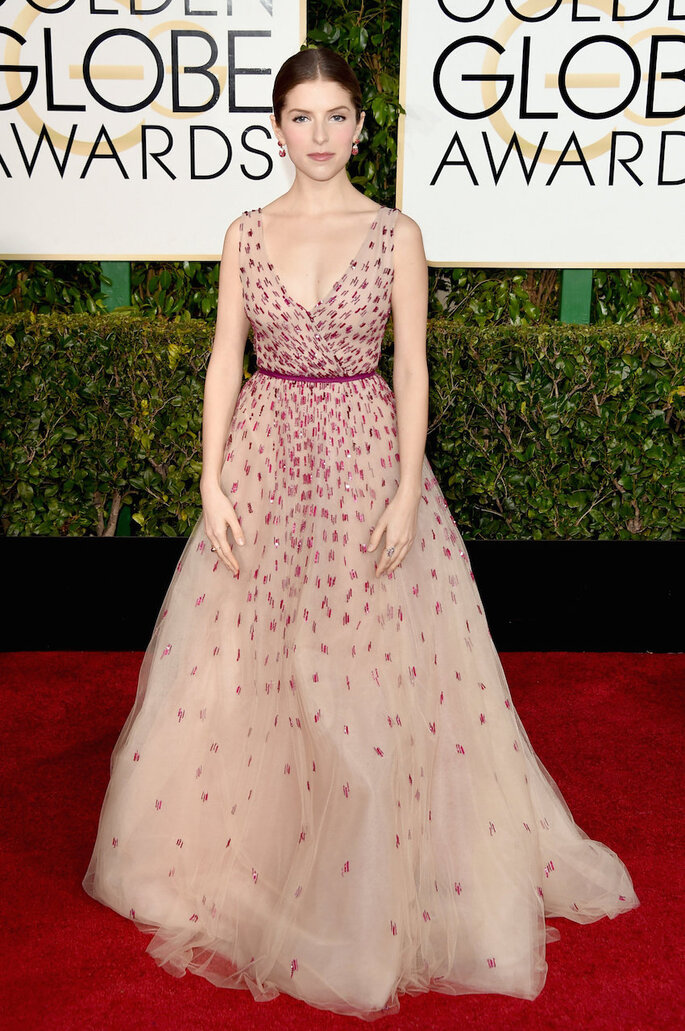 Las mejor vestidas de los Golden Globe Awards 2015 - Monique Lhuillier (Anna Kendrick)