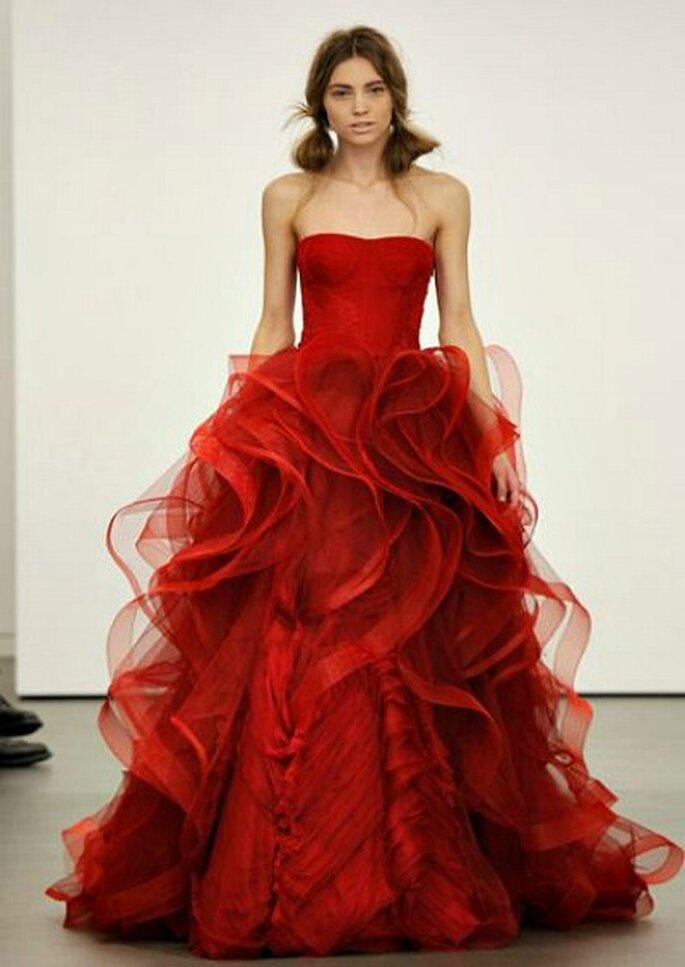 Robe de mariée rouge, Vera Wang 2013