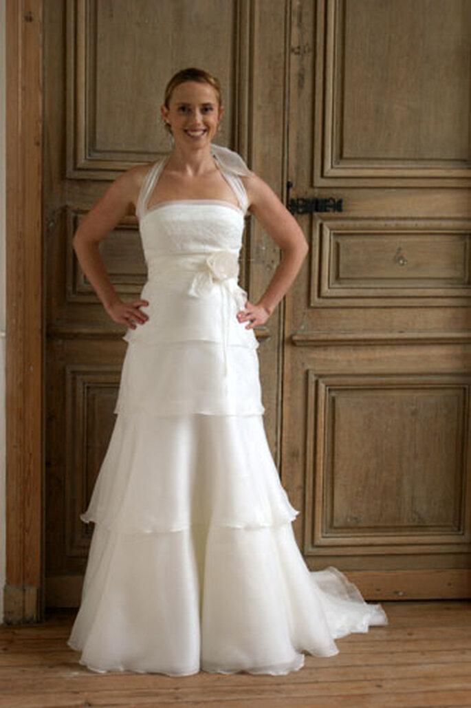 Robe de mariée Géraldine Lemonnier-Leblanc -Emilie, robe en organza de soie