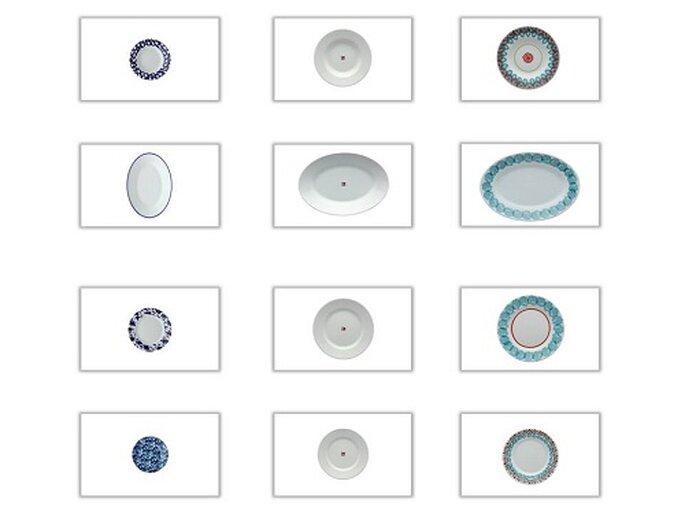 GINORI COLLEZIONE LAVENO: 3 decorazioni 3 set da tavola completi tra cui poter scegliere. Foto: products.richardginori1735.com