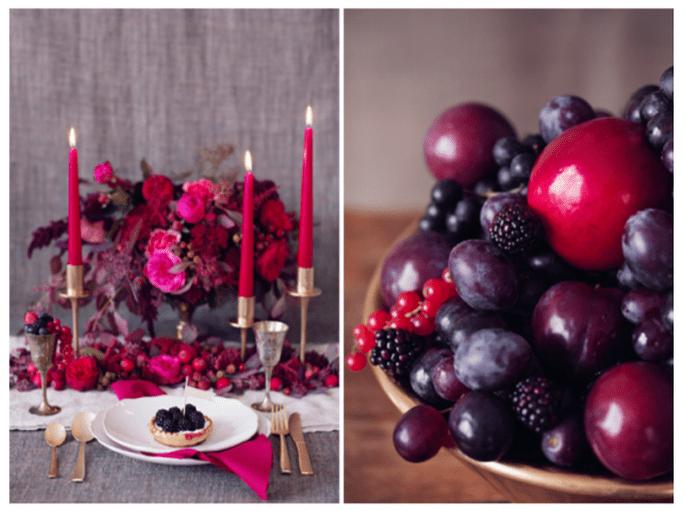 Boda inspirada en frutos rojos - foto Peaches & Mint