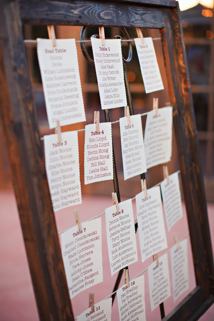 Ideas originales en seating charts - Pinkerton Photography