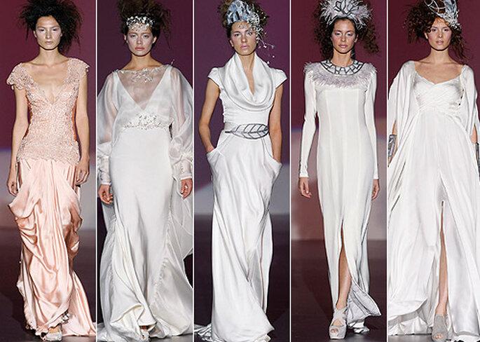 Vestidos de novia y fiesta, de Isabel Zapardiez 2013. Foto: IFEMA