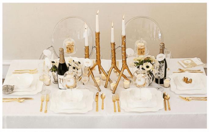 Décoration de Noel pour vos tables de mariage - Photo Suzanne Hansen Photography