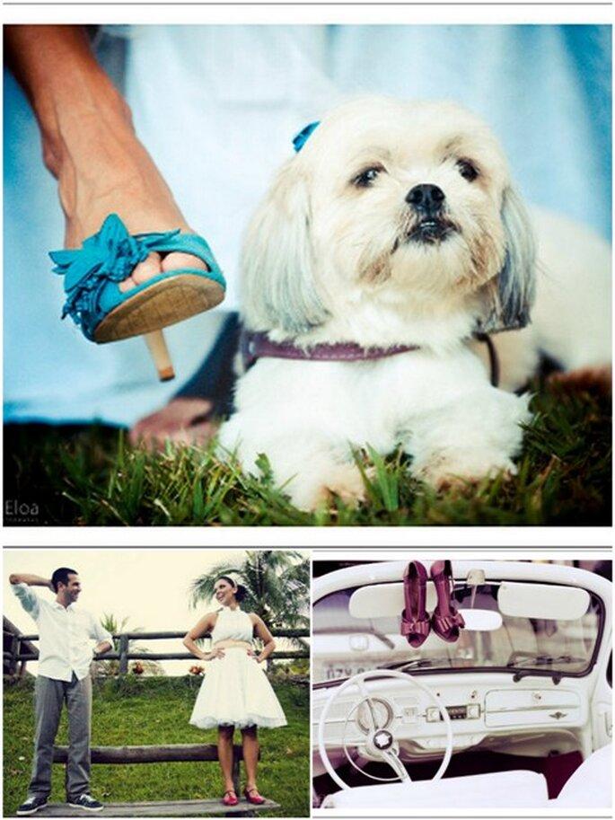 Sapatos de noiva coloridos - Fotos superior e canto direito: Layla Eloá, Foto: esquerda Dueto Fotografia