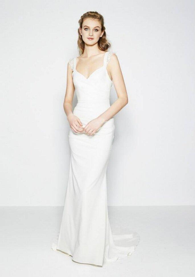 Robe de mariée 2015 avec esthétique minimaliste - Photo Nicole Miller