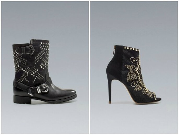Biker o femme fatale? A te la scelta, ma sempre con una scarpa con le borchie! Foto: www.zara.com